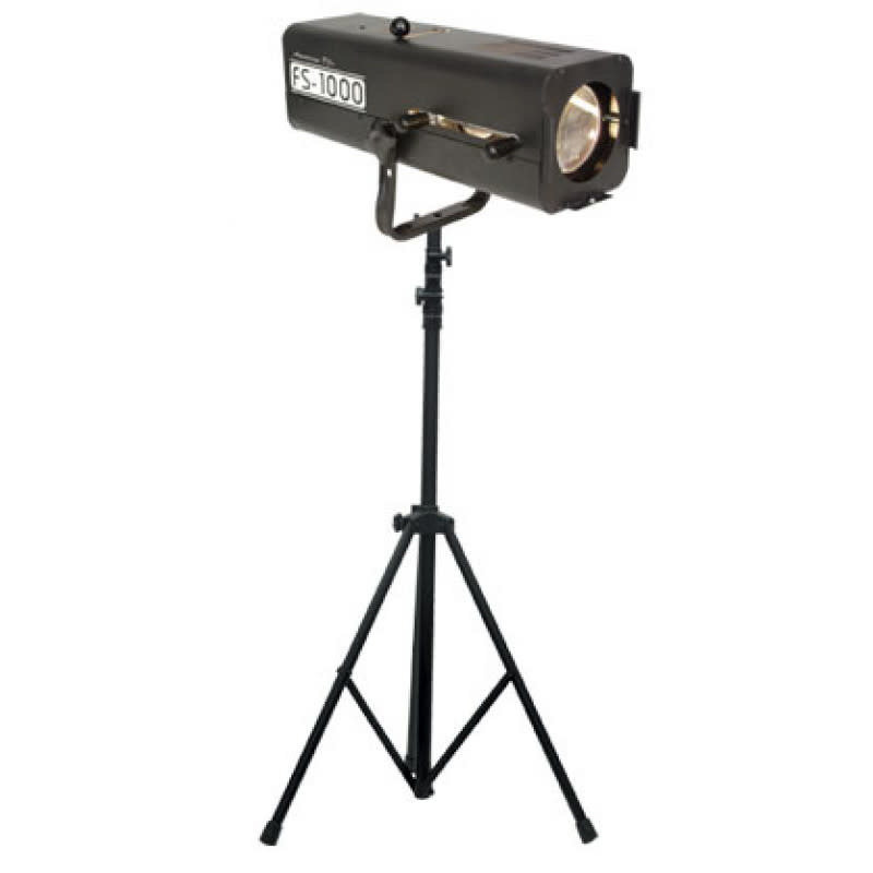 Follow spot 1000w equiv. with stand