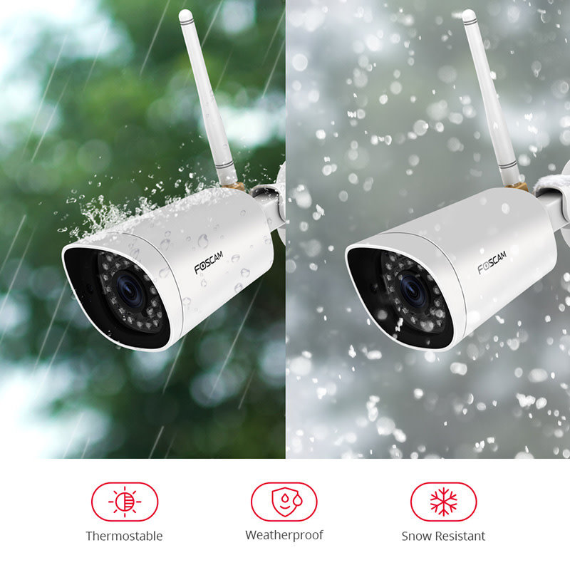 WIFI Outdoor 2 MP 1080p High Definition Bullet Camera with Night Vision
