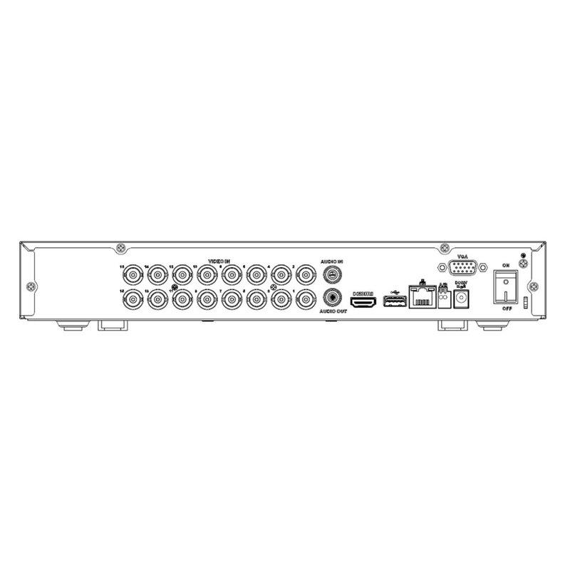 XVR recorder, 16 CH Penta-brid 5MP, 2TB HardDrive