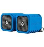 ECOXGEAR Ecoxgear Waterproof Shock Resis. Bluetooth Speaker. Steeio Pair (Blue)