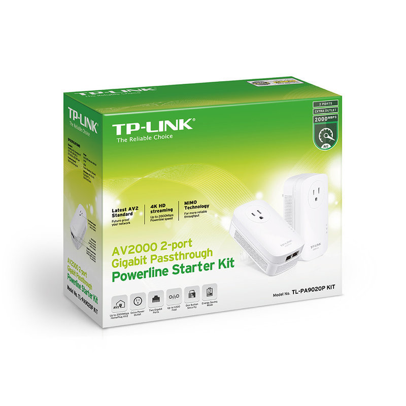 1200Mbps 2-port Network Extender AV2000 PowerLine Kit