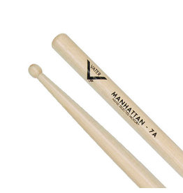 Vater VH7AW - American Hickory Drumsticks - Manhattan 7A - Wood Tip