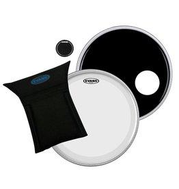 Evans BD22B3 - 22 In. Bass Drum Eq3 Set Clear/ Black