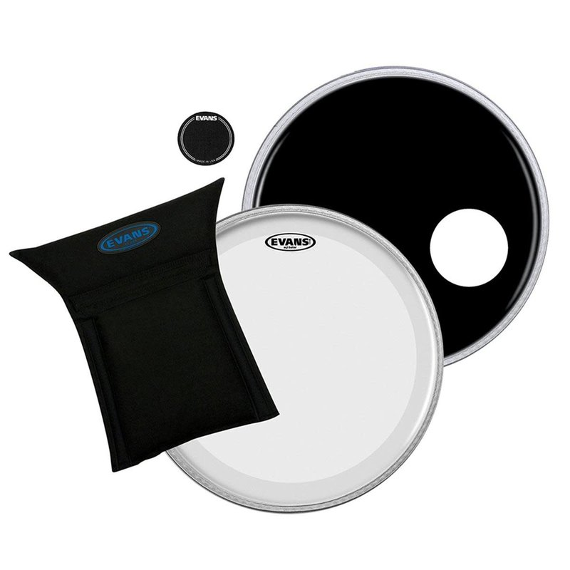 22 In. Bass Drum Eq3 Set Clear/ Black