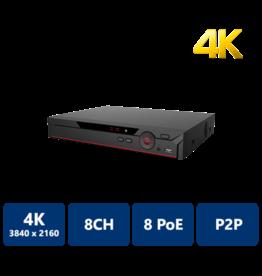 Dahua NVR recorder, 8 CH IP 4K, 2TB HardDrive