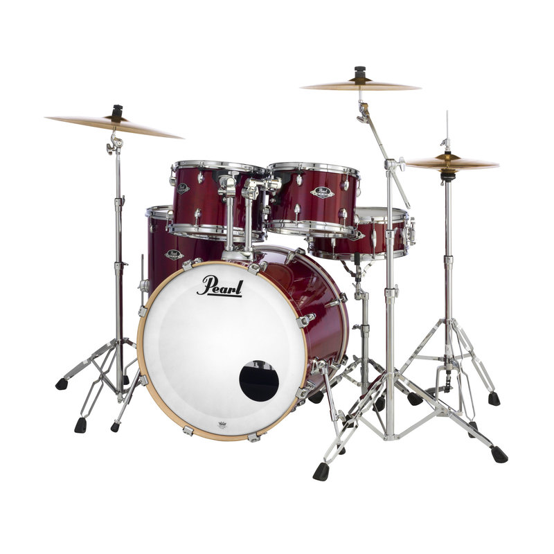 EXL725P Export Lacquer 5 Piece Drum Kit - w/Cymbals, Hardware and Throne