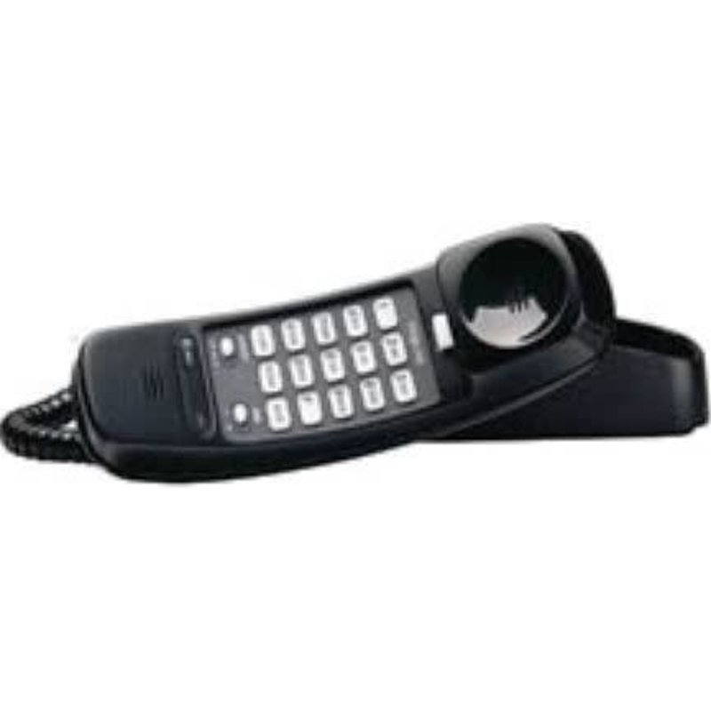 Trimline Corded Phone Black