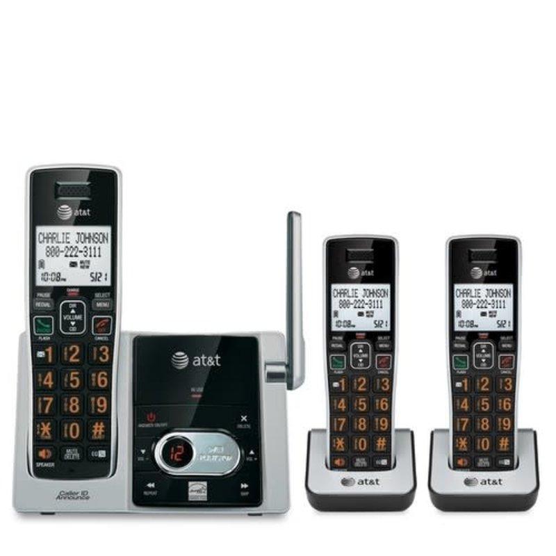 basic 3 Handset Cordless Phone w/Ans