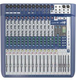 SoundCraft SIGNATURE 16CH mixer, 12 XLR, 4 Buss, 3/4 Aux, w/FX