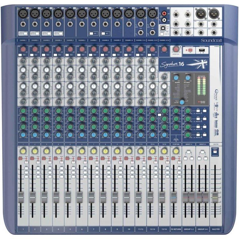 16CH mixer, 12 XLR, 4 Buss, 3/4 Aux, w/FX