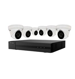 Hikvision 4K Value Express Kit with 8-Channel NVR and 6 x 4MP Outdoor Turret Cameras with 2.8mm Lens