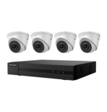 Hikvision 4K Value Express Kit with 4-Channel NVR and 4 x 4MP Outdoor Turret Cameras with 2.8mm Lens