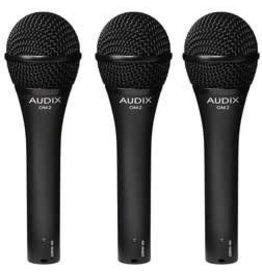 AUDIX OM2 Trio Handheld Dynamic Hypercardioid Mic 3PK