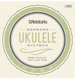 D'Addario EJ88S -  Soprano Ukulele Strings - Nyltech