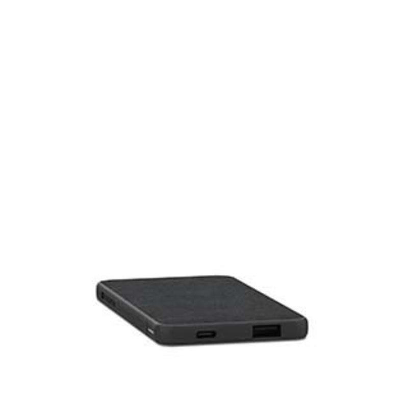 black 5,000 mAh powerstation mini (fabric)