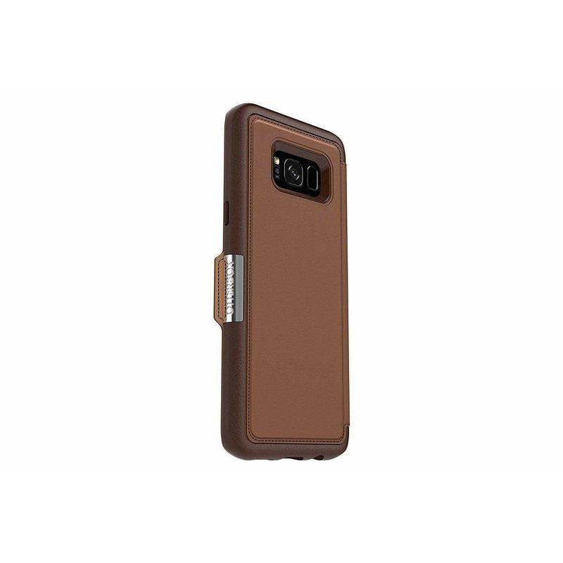 Leather Strada Folio Galaxy S8+ -Burnt Saddle