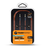 Tough Tested Aux 3.5mm Cable Braided Fabric 6ft