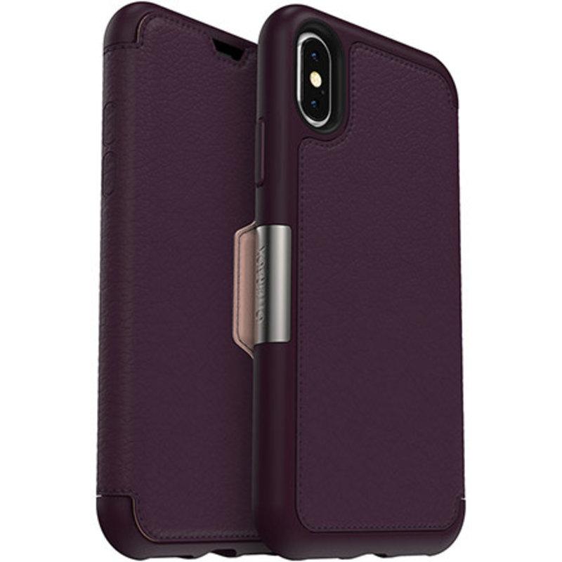 iPhone XS/X Royal Blush Leather Strada Folio case