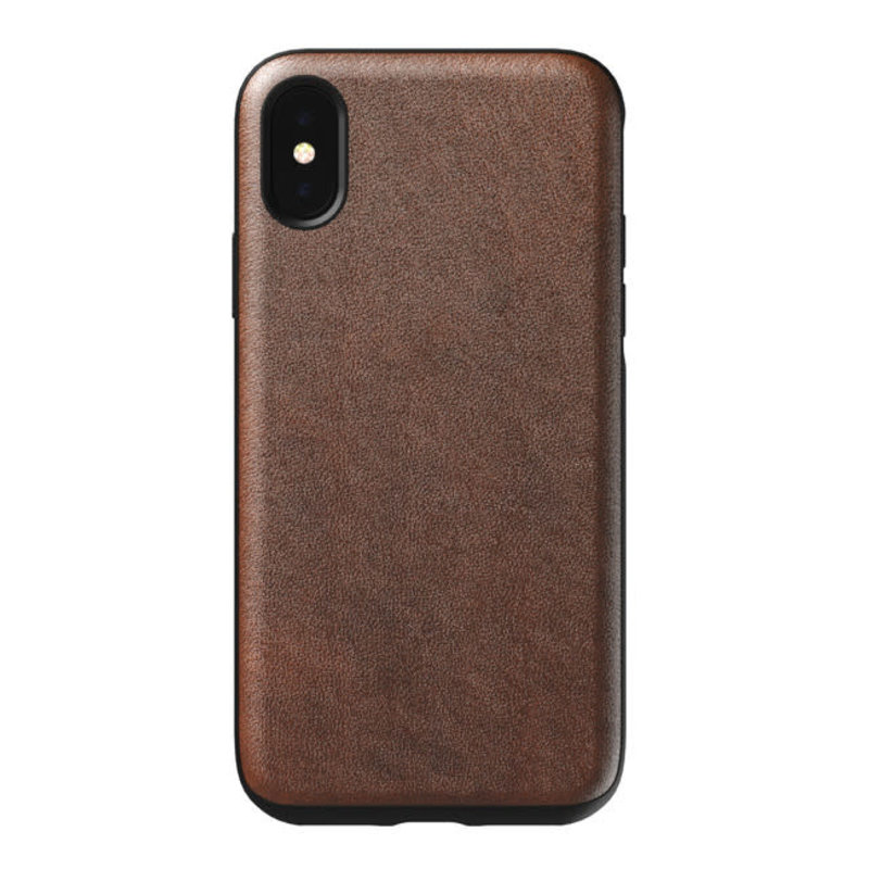 Rugged LLeather Case iPhone XS/X Rustic Brown