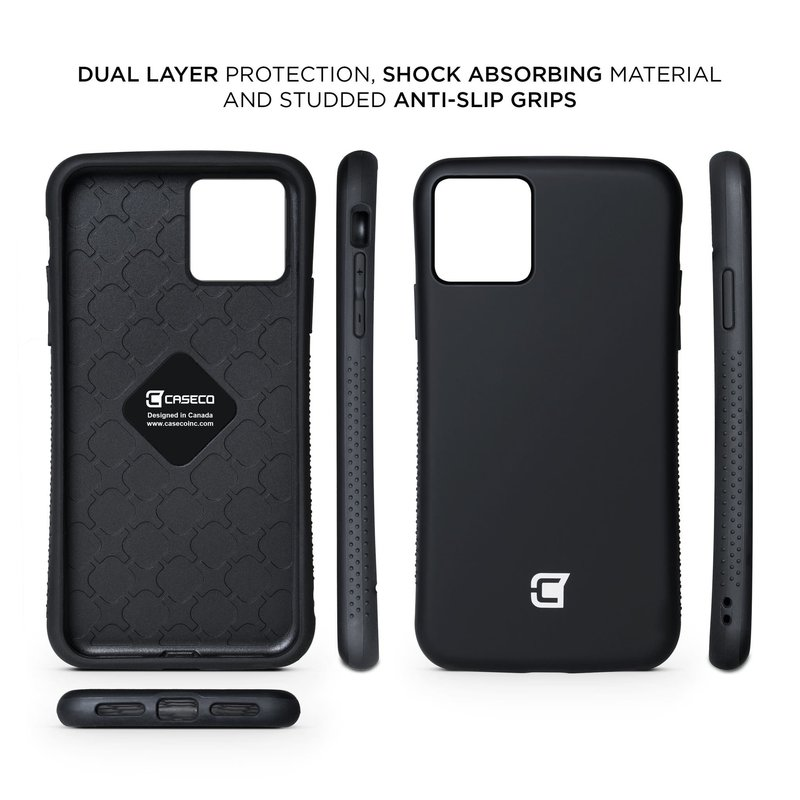 Rugged Grip Armor Case iPhone 11 Pro - Black