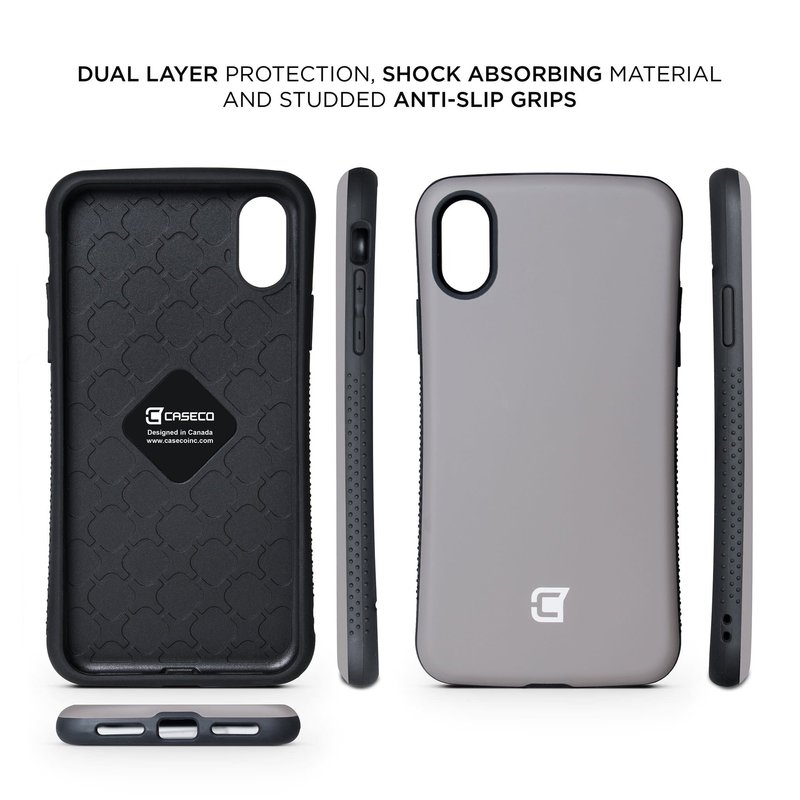 Rugged Grip Armor Case iPhone XR - Gun Metal