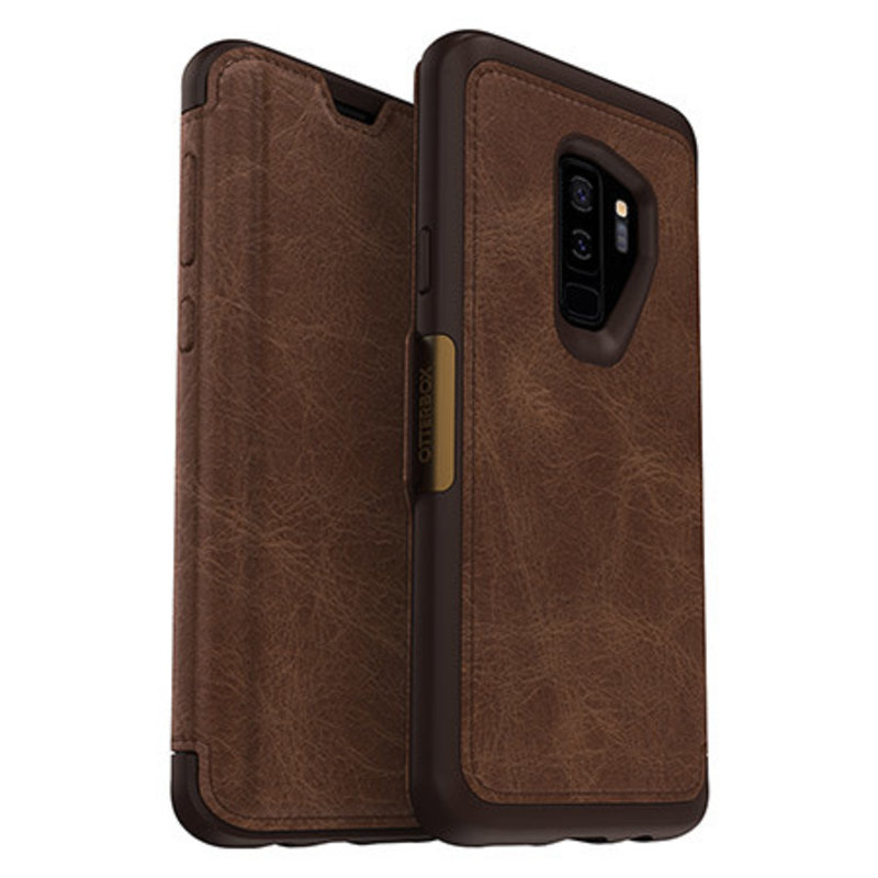Strada Folio Galaxy S9+ Espresso (Dark Brown)