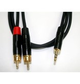 "DigiFlex 1/8""(3.5mm) Male To Male RCA x2 (L/R)"