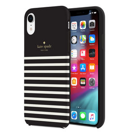 Kate Spade Protective Hardshell Case Feeder Stripe for iPhone XR