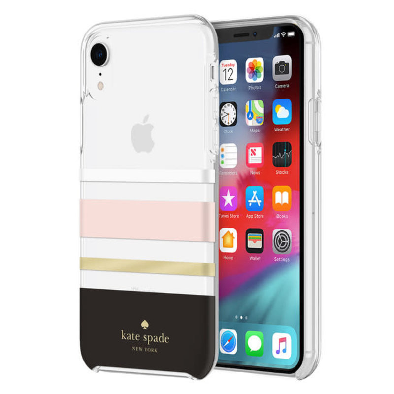 Protective Hardshell Case Charlotte Stripe for iPhone XR