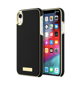 Kate Spade Wrap Case Saffiano Black Gold Plate for iPhone XR