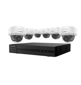 Hikvision 4K Value Express Kit with 8-Channel NVR and 6 x 4MP Outdoor Dome Cameras with 2.8mm Lens