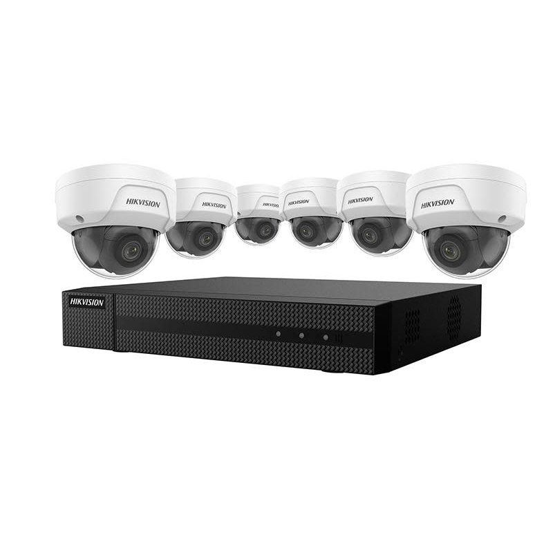 4K Value Express Kit with 8-Channel NVR and 6 x 4MP Outdoor Dome Cameras with 2.8mm Lens