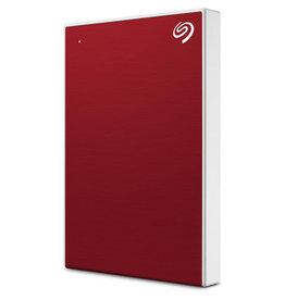 "Seagate Backup Plus Slim 2TB Portable Hard Drive - 2.5"" External - Red - USB 3.0"