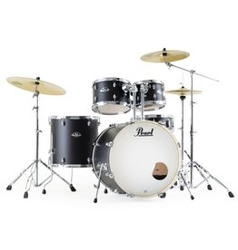 Pearl Drums Export 2218B-1007T-1208T-1414F-1455S - Satin Shadow Black - No Cymb