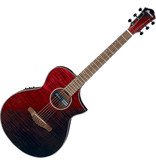 Ibanez AEW TONAL BRACING ACOUSTIC ELECTRIC-RED SUNSET FADE