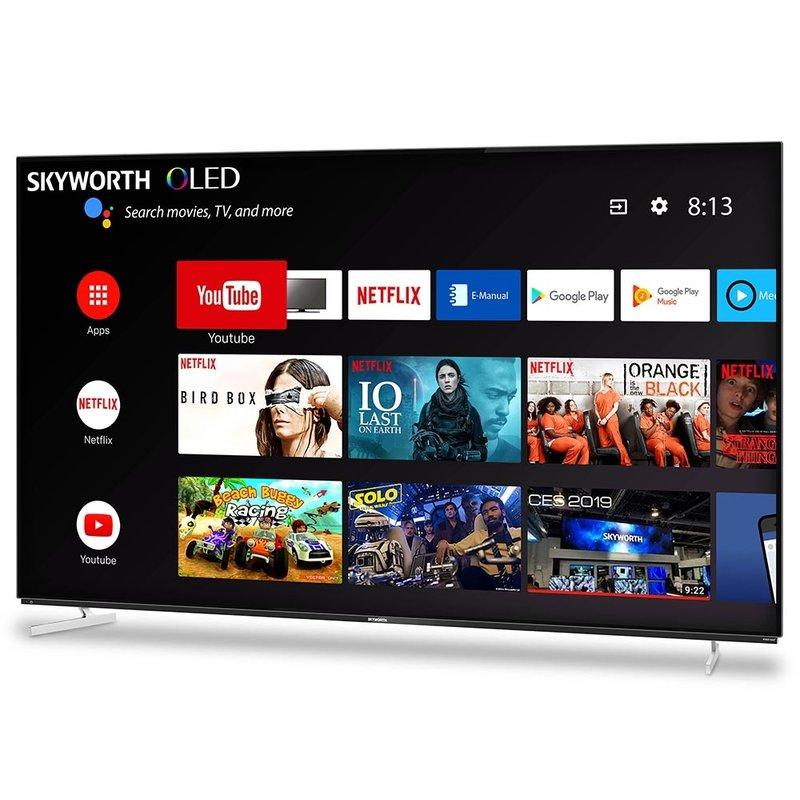 55'' XA8 OLED 4K Smart AI Android HDR Bezel-less Full Screen Design