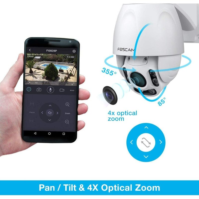 Outdoor WIFI 1080P PTZ with Starviz Low Light and 60M NightVision