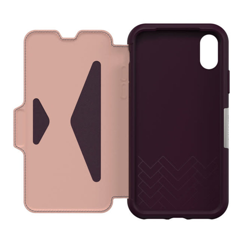 Strada Folio Case Royal Blush (White/Pink) for iPhone XR