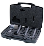 Shure Drum microphone kit. Includes (3) SM57 microphones, (1) BETA52A