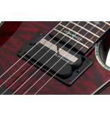 Schecter Hellraiser C-1 with Floyd Rose and Sustainiac 6 String Electric Guitar - Black Cherry