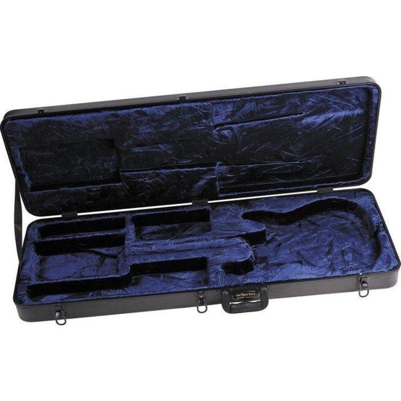 Hardcase for C-Shape Electric Guitar, Black/Blue Interior
