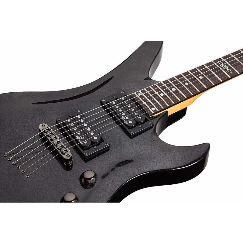 Avenger SGR 6-string Electric Guitar, Metallic Black
