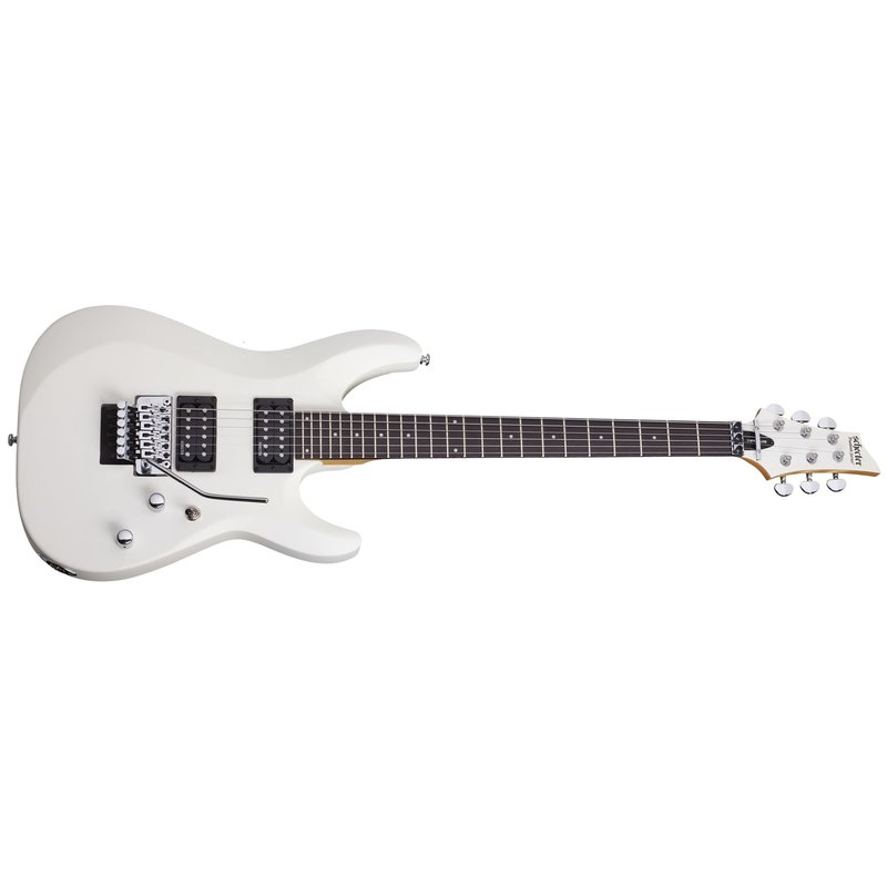 C-6 FR DELUXE Solid-Body 6 String Electric Guitar - Satin White