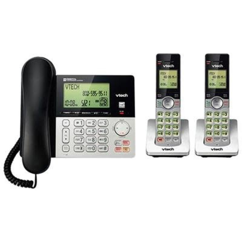 Corded/Cordless Phone system w/Ans 2 handsets