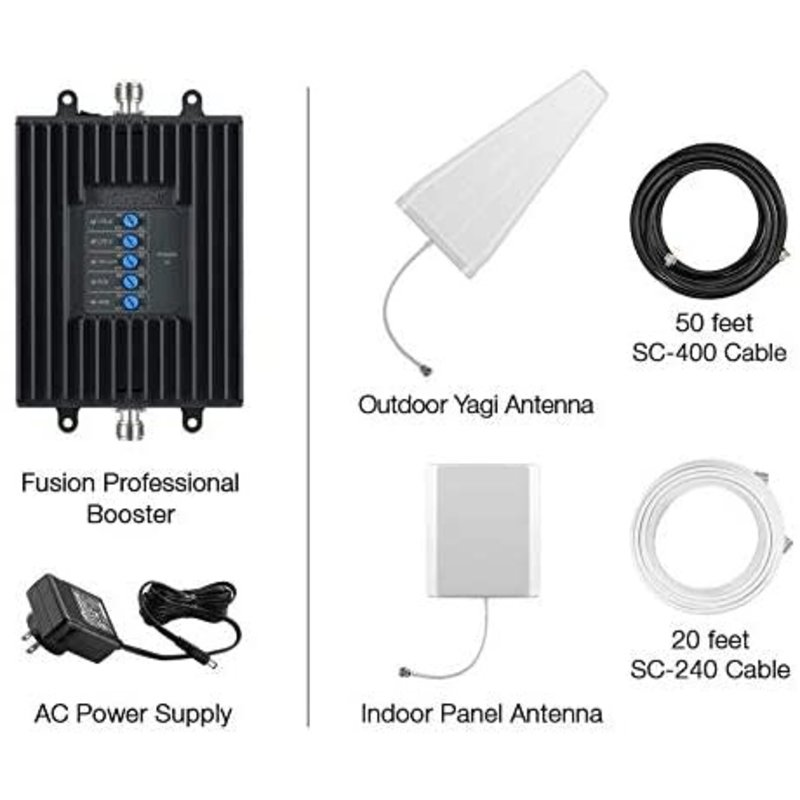 Fusion Professional 3G/4G LTE Directional In-Building Signal Booster panel Kit