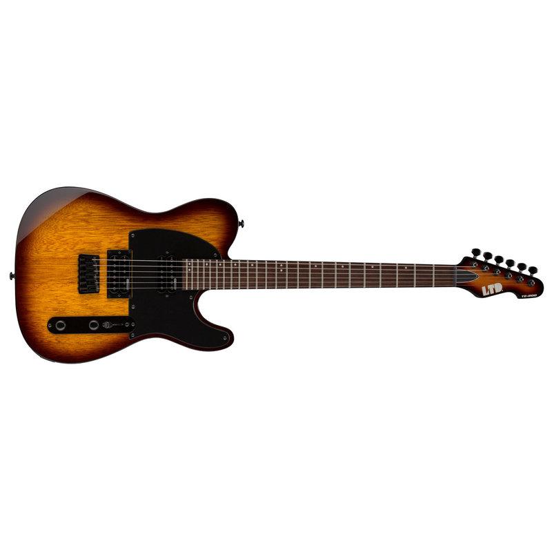 ESP TE Series TE-200 Rosewood Electric Guitar, Tobacco Sunburst