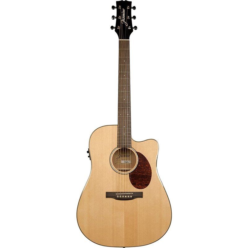 J Series Dreadnought Acoustic Electric Cutaway Guitar - Natural