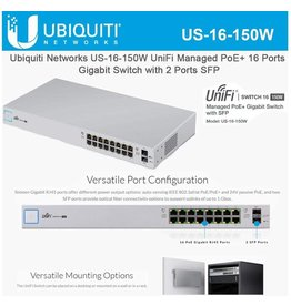 Ubiquiti Networks 16 port UniFi POE Switch 150w