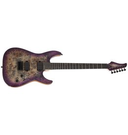 Schecter C-6 Pro Electric Guitar Burl Top, Coil Split Tap, Aurora Burst