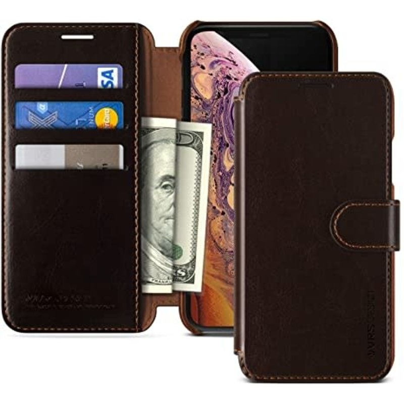 Vrs Design Layered Dandy iPhone XS Max Dark Brown